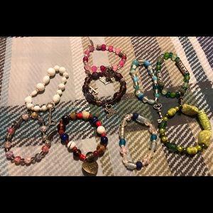 Jewelry - Lot 7 ** 9 homemade bracelets